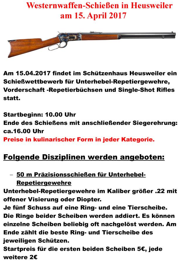 Westernwaffen-Schießen @ Schützenhaus | Heusweiler | Saarland | Deutschland