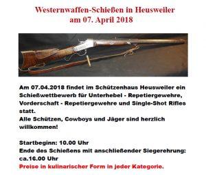 Westernwaffen-Schießen 2018 @ SV Heusweiler