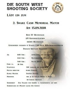 2. Snake Cash Memorial Match @ SV Heusweiler